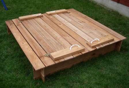 Как сделать деревянную песочницу